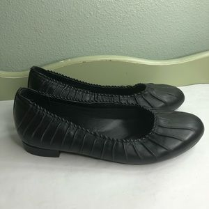 David Tate flats shoes women size12W black leather